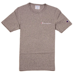 Champion Heritage Tee LC Script Oxford Grey - Pict Clothing