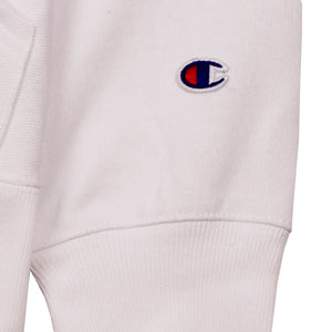 Champion Europe Rev Weave Hoodie White - Pict Clothing
