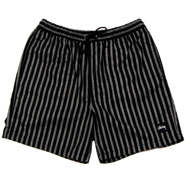 Stussy Stan Stripe Beachshort Black/White