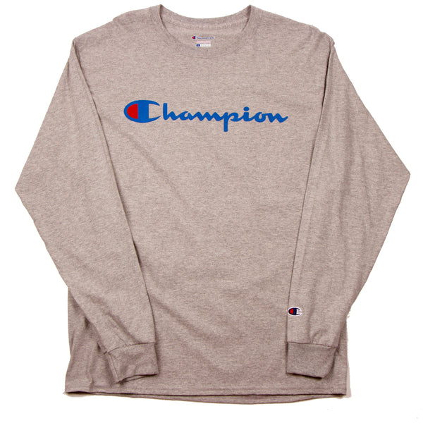 Champion Script LS Tee Oxford Grey