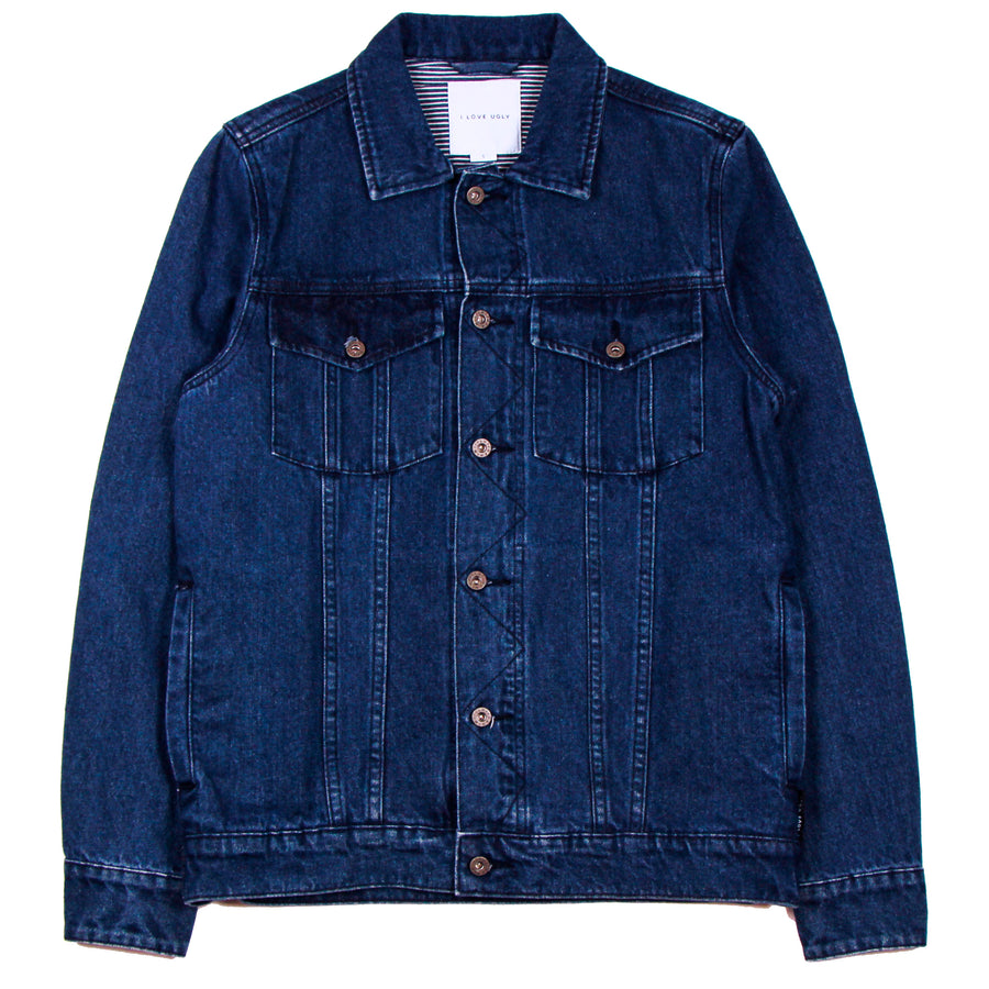 I Love Ugly Denim Jacket 2 Mid Stonewash - Pict Clothing