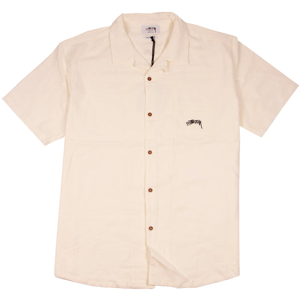 Stussy Authentic Ss Resort Shirt White