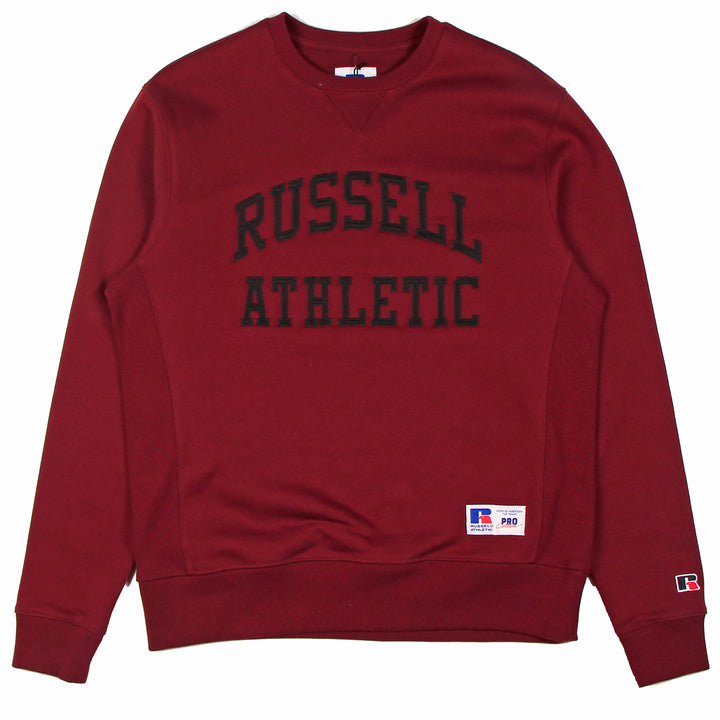 Russell Athletic Pro Cotton Arch Logo Crew Burnt Scarlet