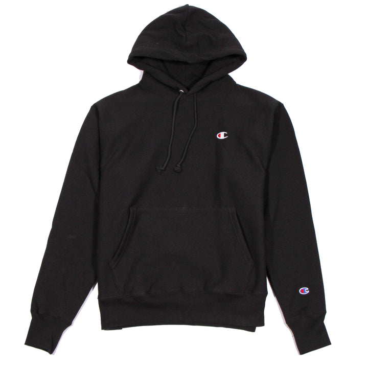 Champion Reverse Weave Hoodie Black - Pict Clothing