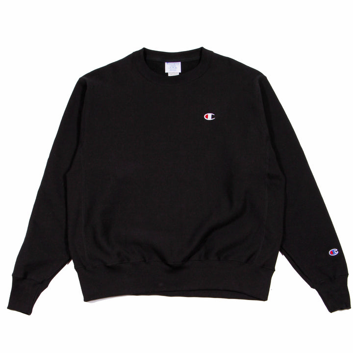Champion Reverse Weave Crew Black - Pict Clothing