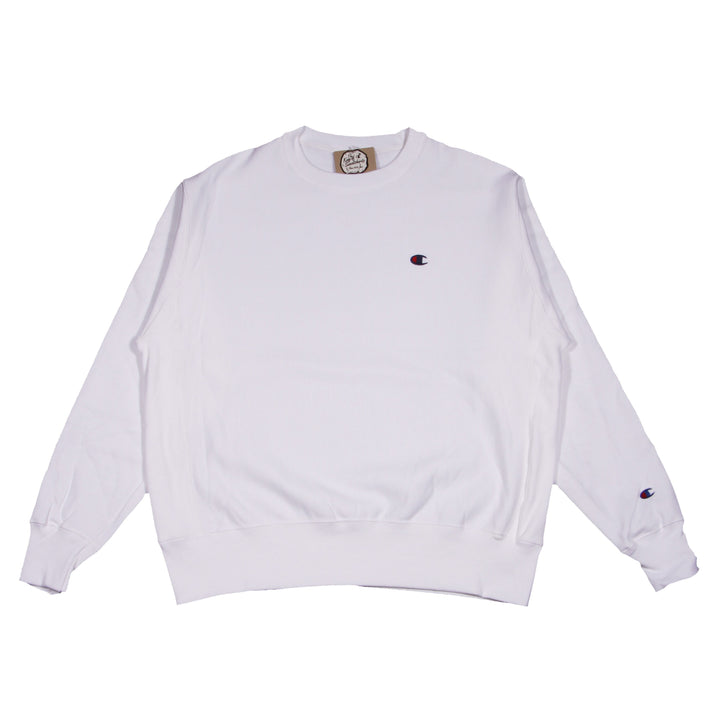 Champion Reverse Weave Crew White - Pict Clothing