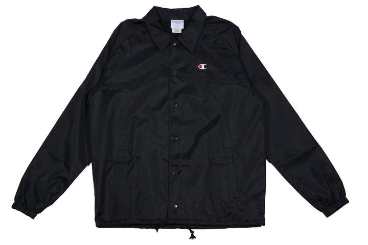 Champion Coaches Jacket Black - Pict Clothing