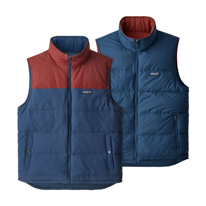 Patagonia Reversible Bivy Down Vest Stone Blue - Pict Clothing