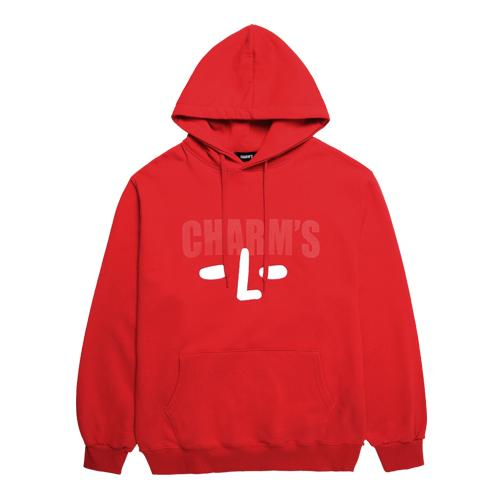 Charms Size Logo Hood Red - Pict Clothing