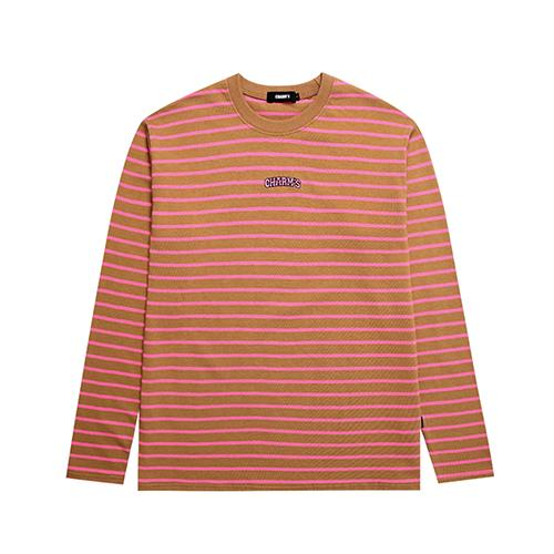 Charms Small Arch Logo Tee Orange Stripe - Pict Clothing