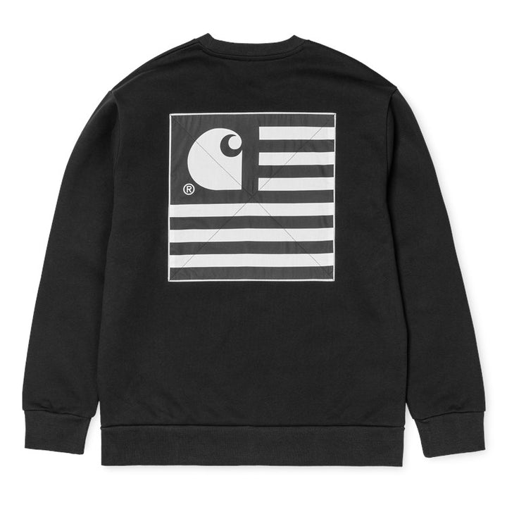 Carhartt State Patch Sweat Black - Pict Clothing