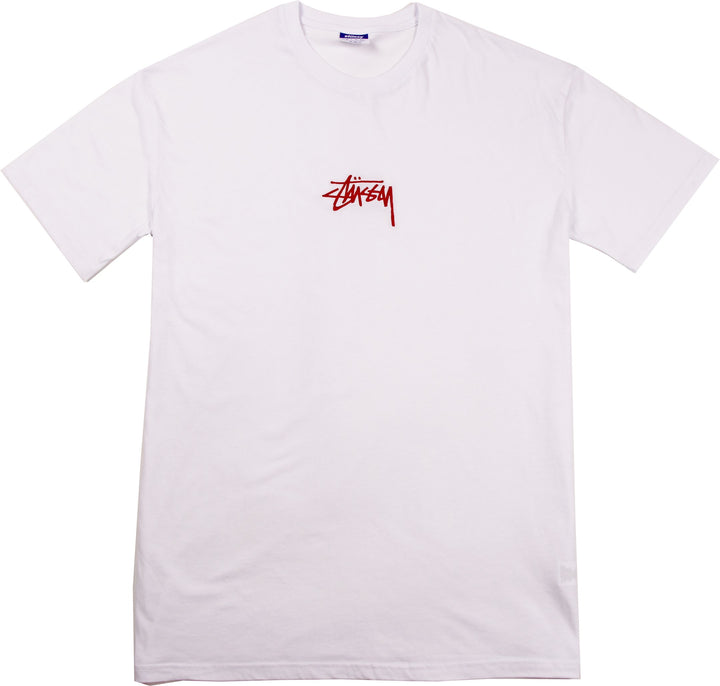 Stussy Stock SS Tee White - Pict Clothing