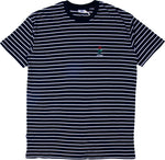 Stussy Rose Stripe Tee Navy