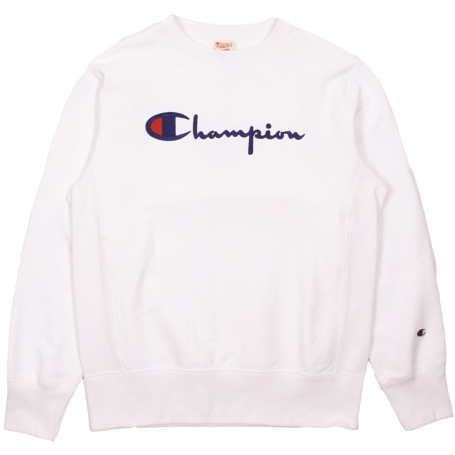 93e36423 Champion Europe Rev Weave Script Crew White | Pict Clothing Sydney