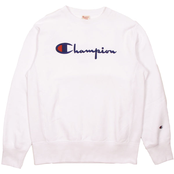 Champion Europe Rev Weave Script Crew White