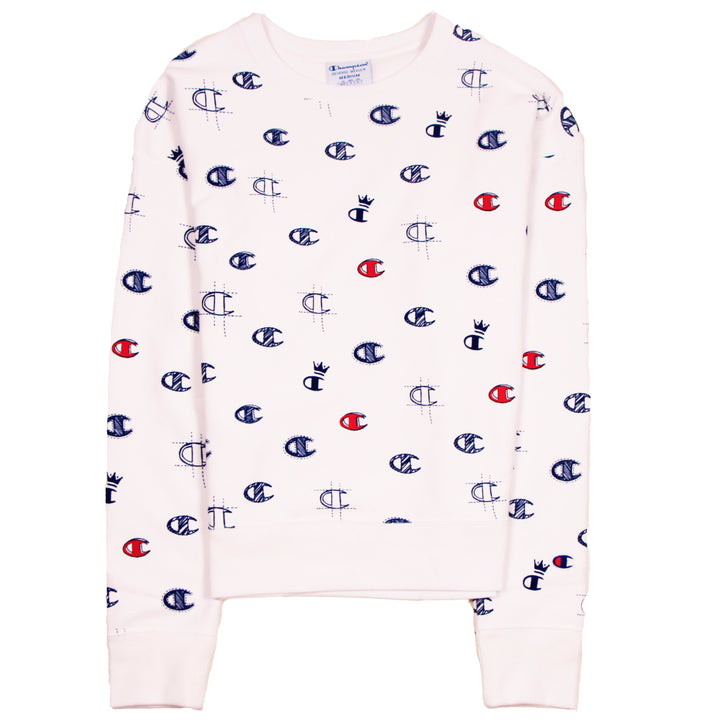 Champion Reverse Weave Crew C's All Over White - Pict Clothing