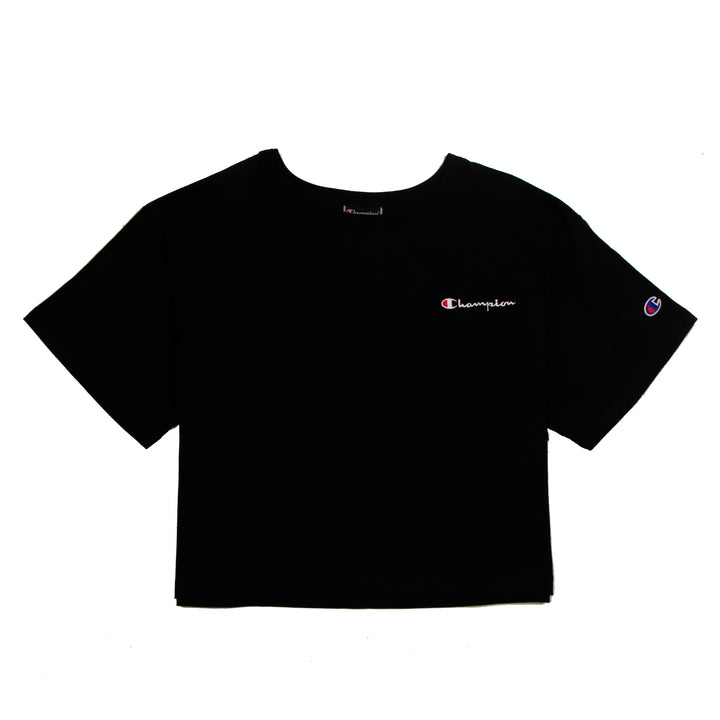 Champion Cropped Tee Black - Pict Clothing