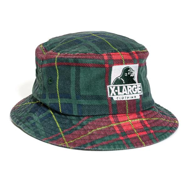 X Large Bucket Hat Black Check