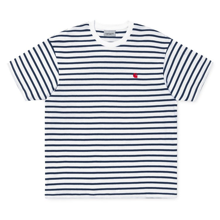 Carhartt SS Champ Tee Navy/Wax - Pict Clothing