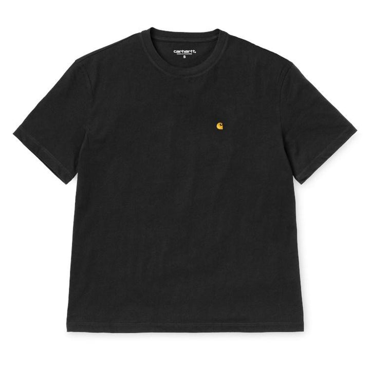 Carhartt W SS Chase Tee Black/Gold - Pict Clothing