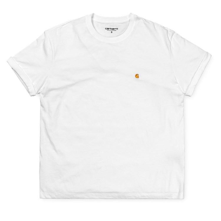 Carhartt W SS Chase Tee White/Gold - Pict Clothing
