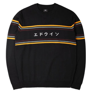 Edwin Logo Sweater Black - Pict Clothing
