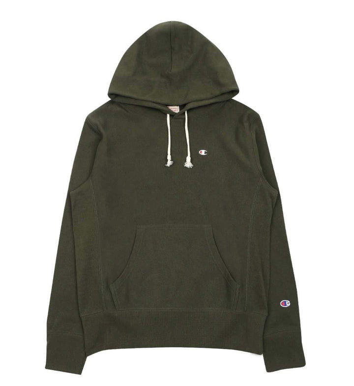 Champion Europe Rev Weave Hoodie Moss Green - Pict Clothing