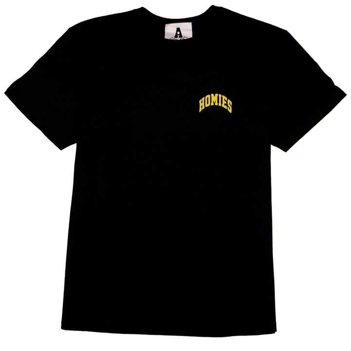 For The Homies College Tee Black - Pict Clothing