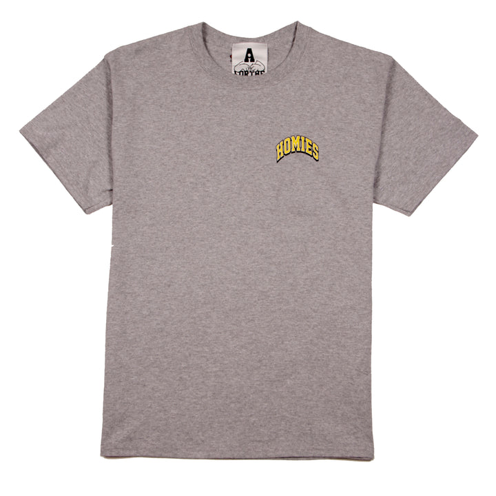 For The Homies College Tee Athletic Grey - Pict Clothing