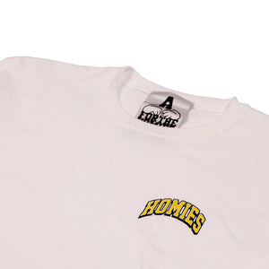 For The Homies College Tee White - Pict Clothing