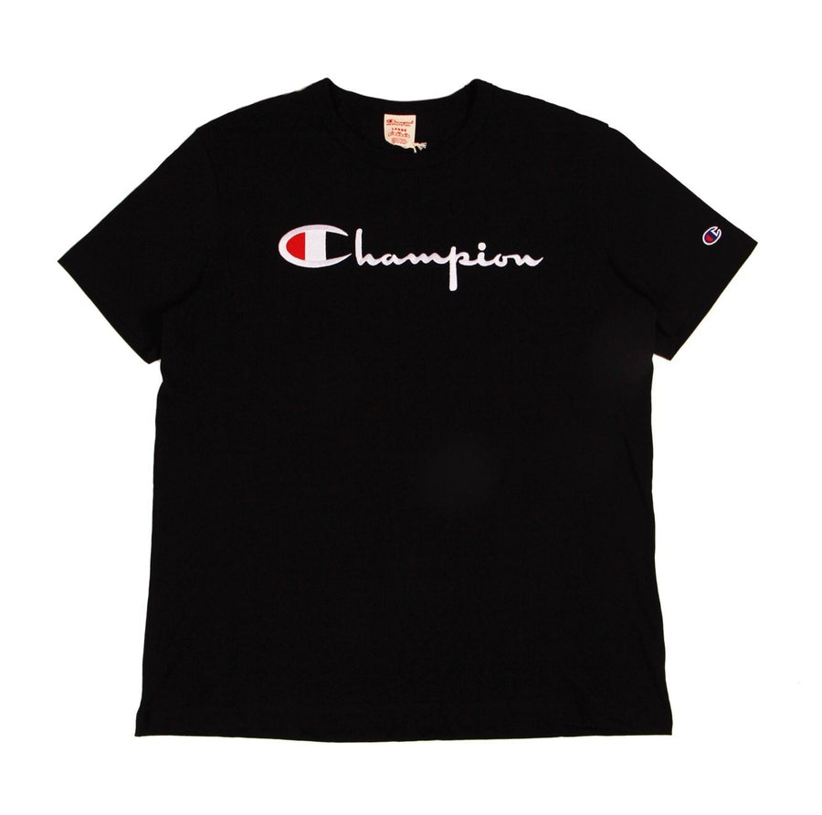 Champion Europe Script Tee Black - Pict Clothing