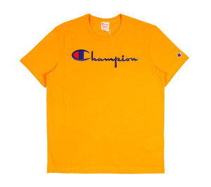 Champion Europe Script Tee Mustard Yellow - Pict Clothing