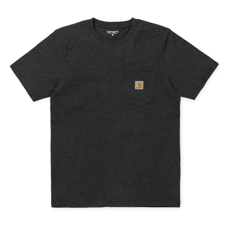 Carhartt SS Pocket Tee Black Heather - Pict Clothing