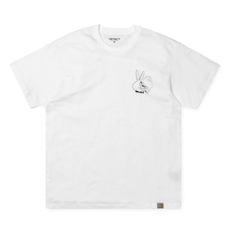 Carhartt SS Rabbit Tee White/Black - Pict Clothing