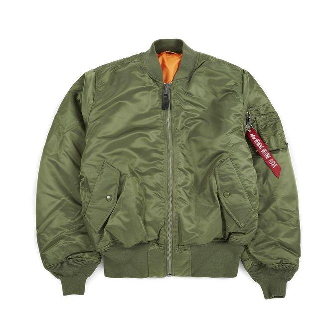 Alpha MA-1 Slim Fit Flight Jacket Sage Green - Pict Clothing