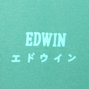 Edwin Edwin Logo Chest Tee Frosty Spruce - Pict Clothing