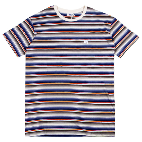 Stussy Graffiti Stripe SS Tee Airforce