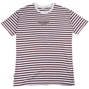 Stussy Worldwide Stripe SS Tee White