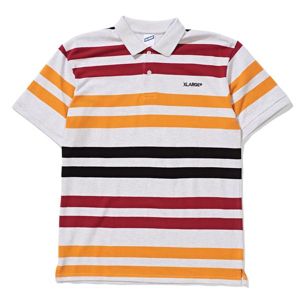 X Large Striped Polo Snow Marle