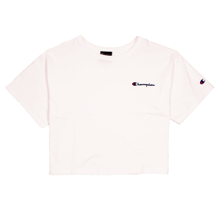 Champion Cropped Tee White - Pict Clothing