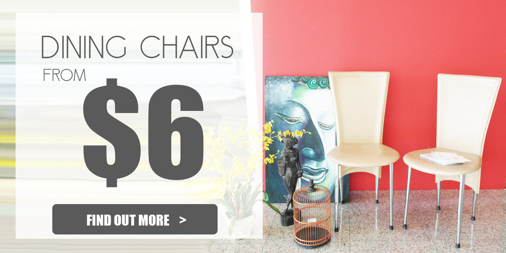 Great Singapore Sale 2017: Dining chairs from $6 onwards