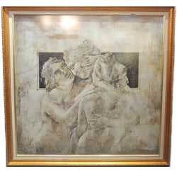 Framed Victorian Greek Painting Picture