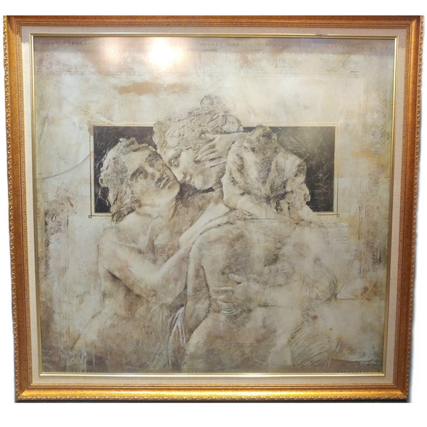 Framed Victorian Greek Painting Picture - Redsagaseeds