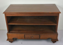 TEAK WOOD TV CONSOLE WITH 1 DRAWER