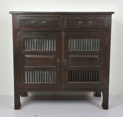 TEAK WOOD SIDE CABINET WITH 2DOORS & 2DRAWERS