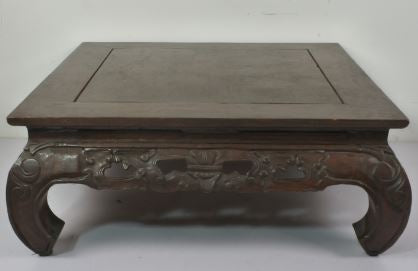 TEAK WOOD LOW COFFEE TABLE-SQUARE