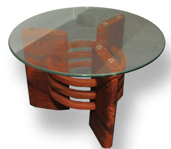 Art Deco Antique Glass top Coffee Table