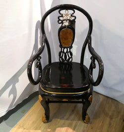 Grand master solid wood chair