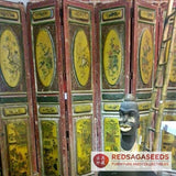 LARGE VINTAGE CHINESE 6 PARTS WALL DIVIDER PANEL - Redsagaseeds