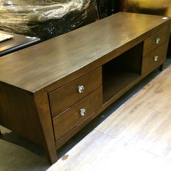 Solid Wood TV Console with Drawers - Redsagaseeds